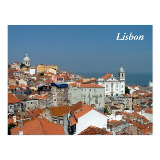 Panoramic view of Lisbon Post Cards