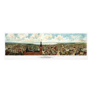 Panoramic View of Milwaukee Wisconsin 1898 Photo Print