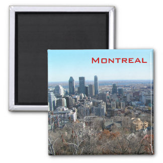 Panoramic view of Montreal Square Magnet