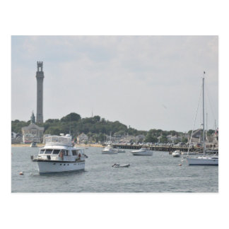 Panoramic view of Provincetown Harbor Postcard