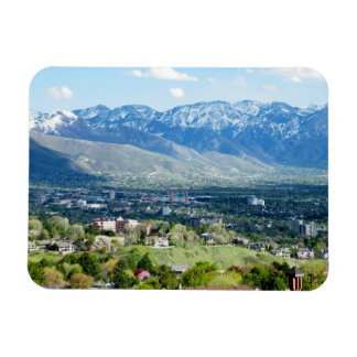 Panoramic View of Salt Lake City Rectangular Photo Magnet