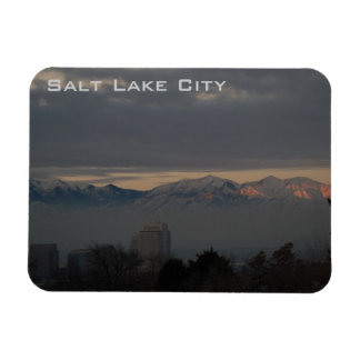 Panoramic View of Salt Lake City with inversion Magnet