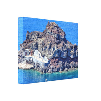 Panoramic view of Santorini Canvas Print