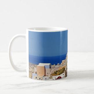 Panoramic view of Santorini Coffee Mug