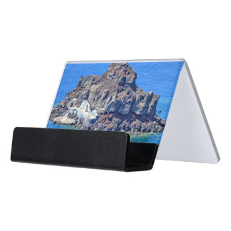 Panoramic view of Santorini Desk Business Card Holder