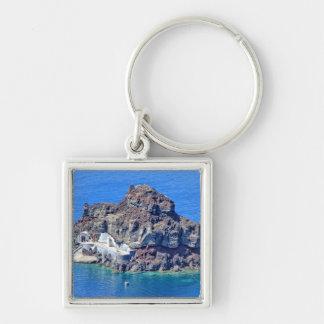 Panoramic view of Santorini Key Ring