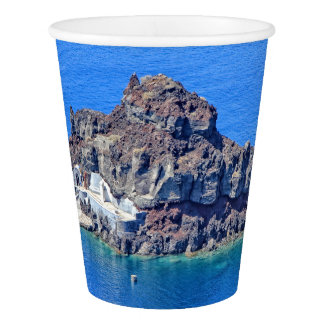Panoramic view of Santorini Paper Cup