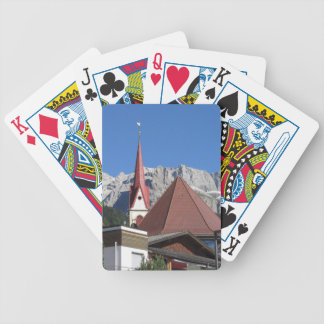 Panoramic view of Selva di Val Gardena Bicycle Playing Cards