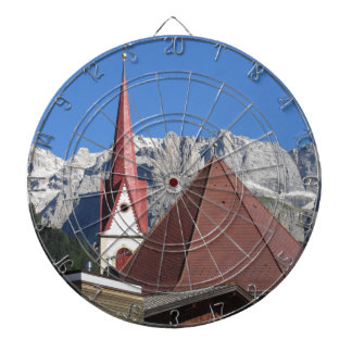 Panoramic view of Selva di Val Gardena Dartboard