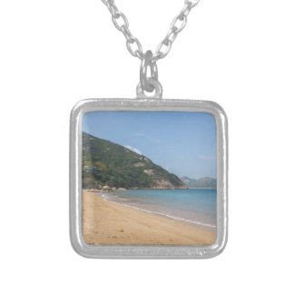 Panoramic view of Sok Kwu Wan Lamma Island Silver Plated Necklace