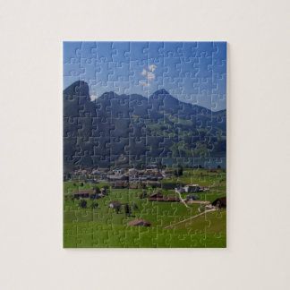 Panoramic view of Spiez Jigsaw Puzzle