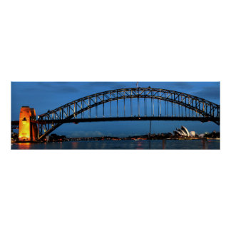 Panoramic view of Sydney Harbour Bridge Poster
