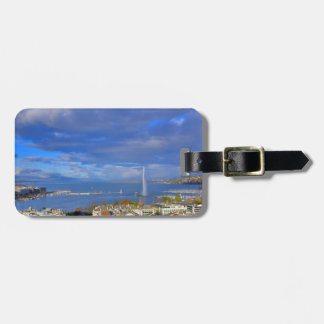 Panoramic view of the Geneva water jet Luggage Tag
