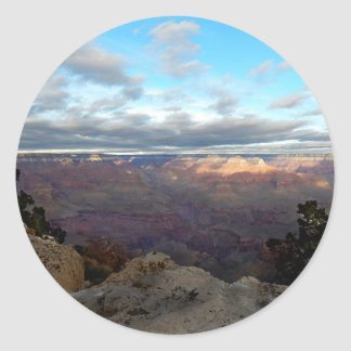 Panoramic view of the Grand Canyon Classic Round Sticker