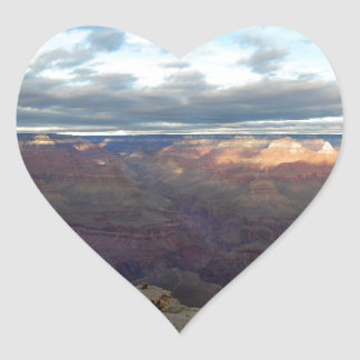 Panoramic view of the Grand Canyon Heart Sticker