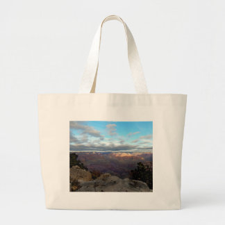 Panoramic view of the Grand Canyon Large Tote Bag