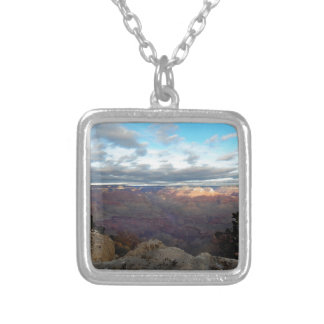 Panoramic view of the Grand Canyon Silver Plated Necklace
