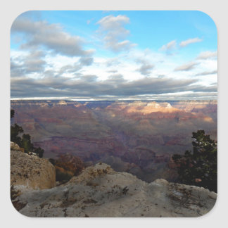 Panoramic view of the Grand Canyon Square Sticker