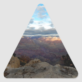 Panoramic view of the Grand Canyon Triangle Sticker