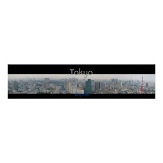 Panoramic View of Tokyo Poster