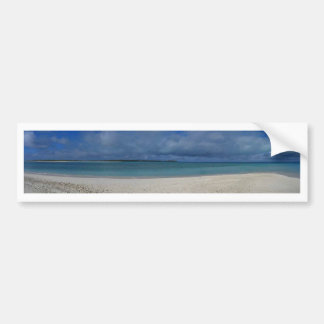 Panoramic View of Tropical Island Bumper Sticker