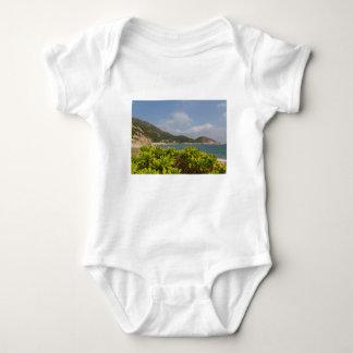 Panoramic view of Tung O Village Lamma Island Baby Bodysuit
