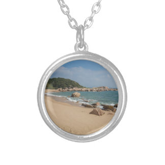 Panoramic view of Tung O Village Lamma Island Silver Plated Necklace