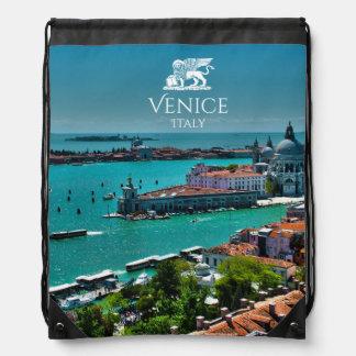 Panoramic View Of Venice, Italy Drawstring Bag