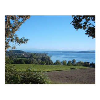 Panoramic View over Lake Constance Postcard