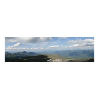 Panoramic View Top of Mt. Washington New Hampshire Poster