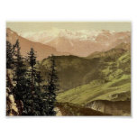 Panoramic view towards Titlis, Stanserhorn, Switze Poster