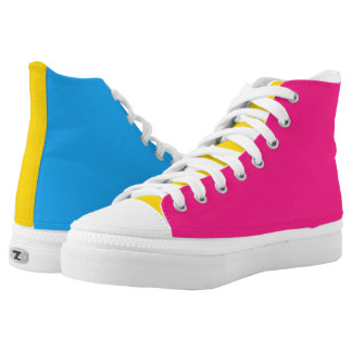 Pansexual flag high tops