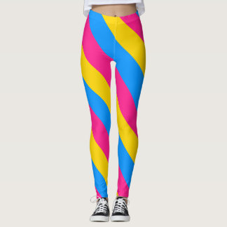 Pansexual flag leggings