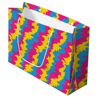 Pansexual Flag Patterns Large Gift Bag