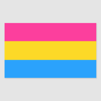 Pansexual flag stickers