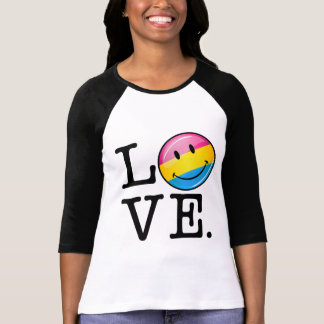 Pansexual Love Smiling Flag T-Shirt