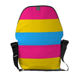 Pansexual Pink Yellow and Blue Flag courier bag