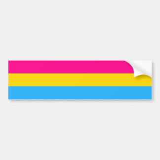 """PANSEXUAL PRIDE FLAG"" BUMPER STICKER"