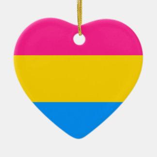Pansexual pride flag ceramic ornament
