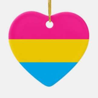 """PANSEXUAL PRIDE FLAG"" CERAMIC ORNAMENT"