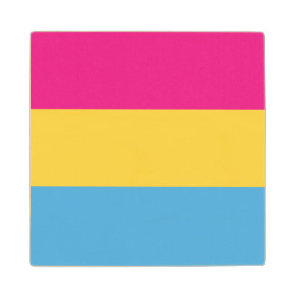 Pansexual | Pride Flag Design | Stripes | Wood Coaster
