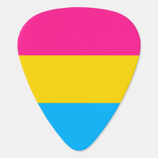 """PANSEXUAL PRIDE FLAG"" GUITAR PICK"