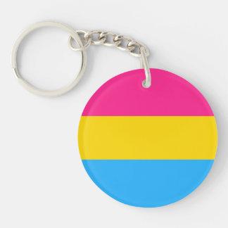 """PANSEXUAL PRIDE FLAG"" KEY RING"