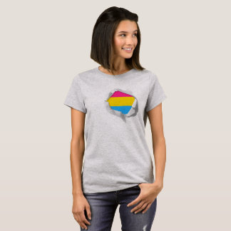 "Pansexual Pride Flag LGBT True Colors ""Torn"" T-Shirt"