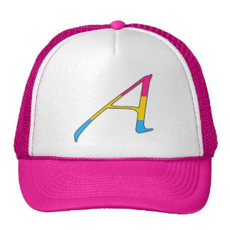 """Pansexual Pride """"Scarlet"""" Letter A Mesh Hat"""