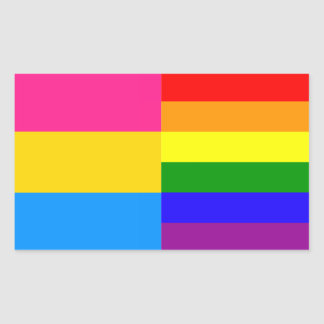 Pansexual/rainbow pride flags sticker