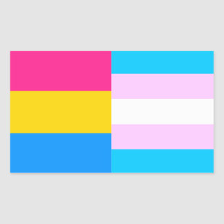 Pansexual/trans pride flags sticker