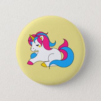 Pansexual unicorn 6 cm round badge