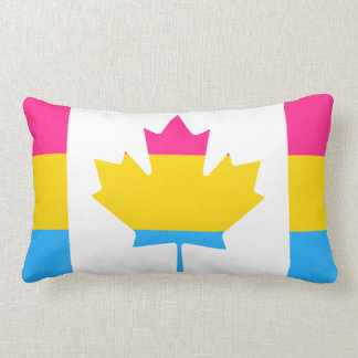 Pansexuality Canadian pride flag Throw Pillow Throw Cushions