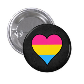 Pansexuality flag black button